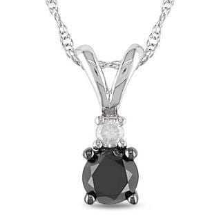 Miadora 10k White Gold 1/2ct TDW Diamond Fashion Necklace