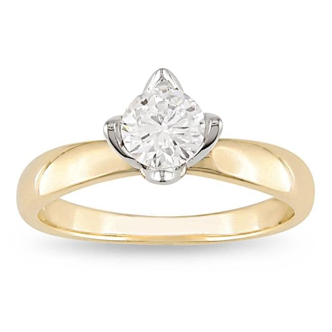 Miadora 14k Gold 1/2ct TDW Certified Diamond Solitaire Ring