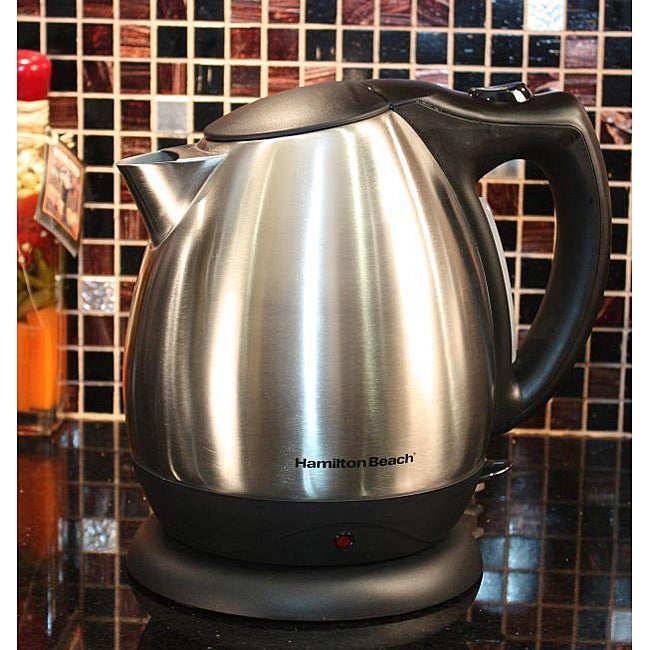 Hamilton Beach 40870E Stainless Steel Electric Kettle - Thumbnail 0