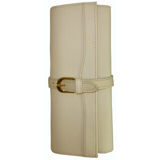 Amerileather Leather Jewelry Roll with Three Interior Pockets (5 options available)
