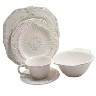 American Atelier 20-piece Antique White Baroque Dinnerware Set (Service for 4)