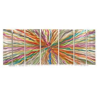 Ash Carl 'Relic' 7-panel Abstract Metal Wall Art