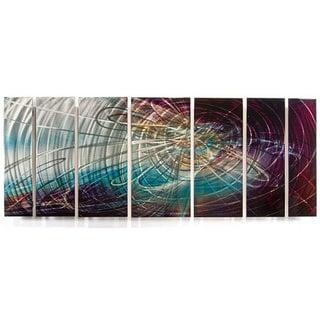 Ash Carl 'Dusk' 7-panel Abstract Metal Wall Art