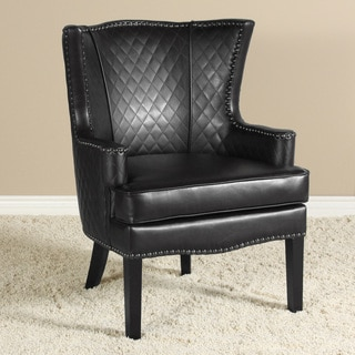 Roma Quilted Bonded Leather Arm Chair by Christopher Knight Home