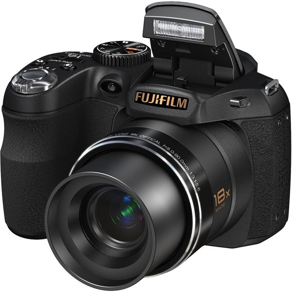 shop fujifilm finepix s2800hd 14 megapixel bridge camera black rh overstock com
