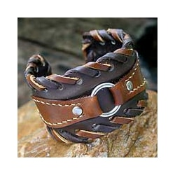 Leather 'Western' Cuff Bracelet (Thailand)