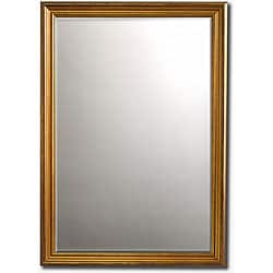 "Classic Gold-Framed Beveled Wall Mirror (36"" x 30"") - Thumbnail 0"