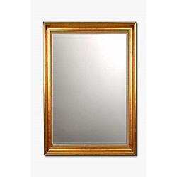 Beaded Gold Framed Beveled Wall Mirror