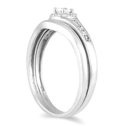 Marquee Jewels 10k White Gold 1/4ct TDW Diamond Bridal Ring Set (I-J, I1-I2) - Thumbnail 1