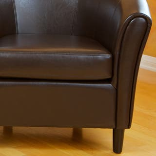 Clearance Chairs Living Room. Napoli Brown Bonded Leather Club Chair by Christopher Knight Home Living Room Chairs For Less  Clearance Liquidation Overstock com