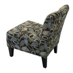 Hali Armless Designer Accent Chair Brown Modern Leaf Free Shipping Today Overstock Com 12948428