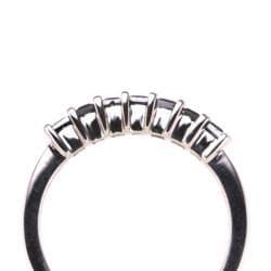 Sterling Silver 1/3ct TDW Black Diamond Ring (Size 7) - Thumbnail 2
