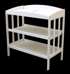 White Wooden Changing Table