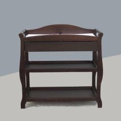 Sleigh Changing Table with Drawer in Cherry