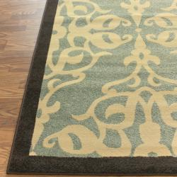 Thumbnail 2, nuLOOM Abbey Collection Sherborne Modern Blue Rug (6'6 x 9'4). Changes active main hero.