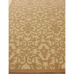 nuLOOM Hand-carved Alfresco Indoor/ Outdoor Sand Rug (5'2 x 7'6) - Thumbnail 1