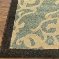 Thumbnail 3, nuLOOM Abbey Collection Sherborne Modern Blue Rug (6'6 x 9'4). Changes active main hero.