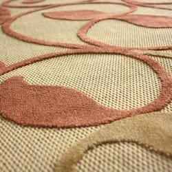 nuLOOM Hand-carved Alfresco Indoor/ Outdoor Sand Rug (5'2 x 7'6)
