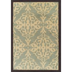 Thumbnail 1, nuLOOM Abbey Collection Sherborne Modern Blue Rug (6'6 x 9'4).