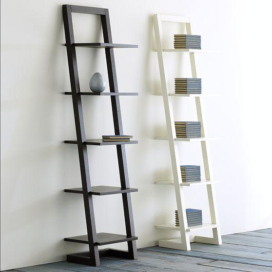 Black 5-tier Self-Standing Ladder Book Shelf