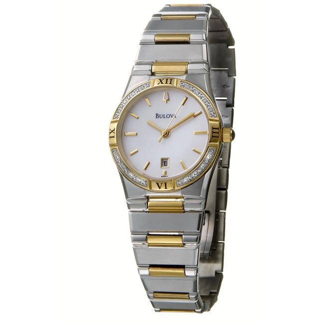 Bulova Women's 'Diamonds' Two-tone Steel Quartz Watch