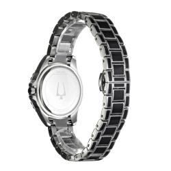 Bulova Women's 'Diamonds' Stainless Steel with Enamel Quartz Watch - Thumbnail 1