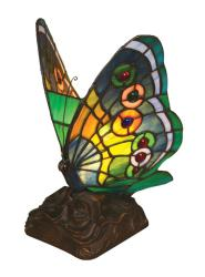 Tiffany-style Butterfly Accent Lamp