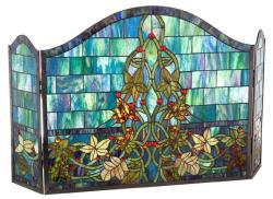 Stained Glass Fireplace Panel - Thumbnail 1