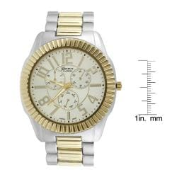 Geneva Platinum Men's Chronograph-style Link Watch - Thumbnail 2