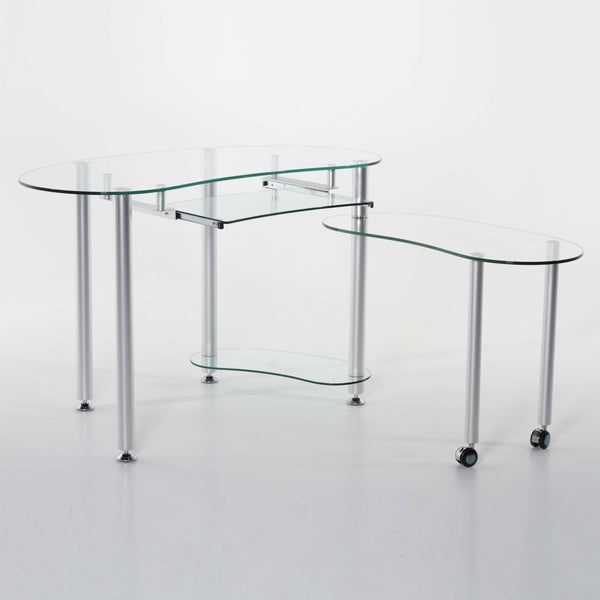 'Bekka' Glass Computer Desk