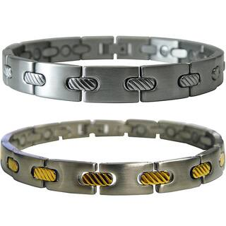 Stainless Steel Men's Magnetic Cable 8-inch Bracelet|https://ak1.ostkcdn.com/images/products/5200913/P13032411.jpg?impolicy=medium