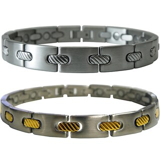 Stainless Steel Men's Magnetic Cable 8-inch Bracelet