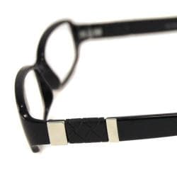 Urban Eyes Women's Shiny Black Reading Glasses