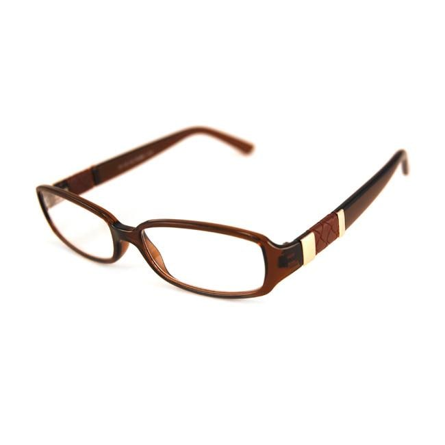 Urban Eyes Women's Shiny Brown Reading Glasses