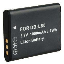 Sanyo DB-L80 Compatible Li-Ion Battery - Thumbnail 2