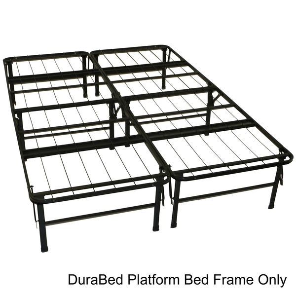 DuraBed Full-size Heavy Duty Steel Foundation & Frame-in-One Mattress Support System Platform Bed Fr