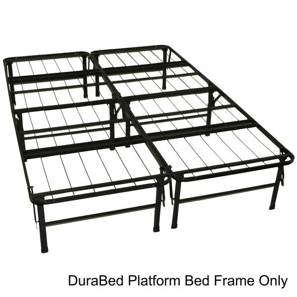DuraBed Full-size Heavy Duty Steel Foundation & Frame-in-One Mattress Support System Platform Bed Frame