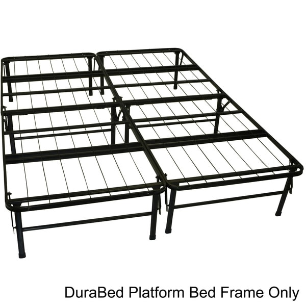 DuraBed Queen-size Heavy Duty Steel Foundation & Frame-in-One Mattress Support System Platform Bed F