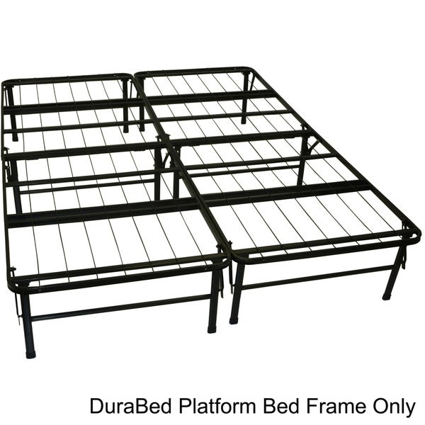 durabed queen size heavy duty steel foundation and frame in one mattress