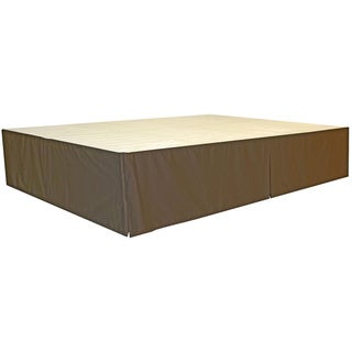 DuraBed King Foundation & Frame-in-One Mattress Support Bed Frame (Black/Black Finish - frame with brown skirt)