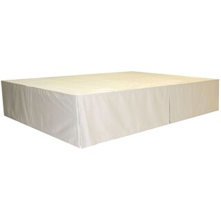 DuraBed Twin Foundation and Frame-in-One Mattress Support Bed Frame (Option: frame with ivory skirt)
