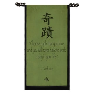 Handmade Confucius Banner Scroll (Indonesia)