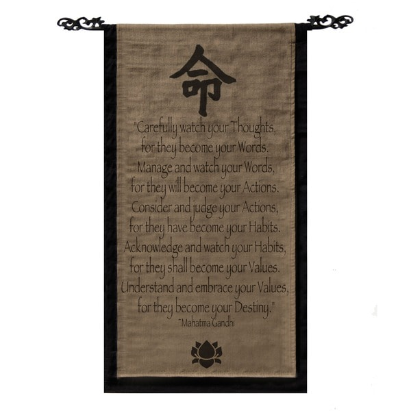 Mohandas Ghandi Scroll Banner (Indonesia)
