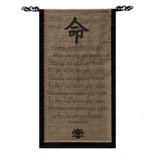 Handmade Mohandas Ghandi Scroll Banner (Indonesia)
