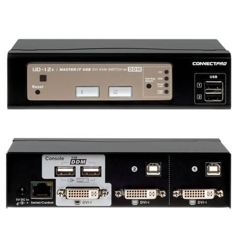 Connectpro UD-12+KIT 2-port DVI KVM with Cables
