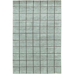 Artist's Loom Hand-knotted Contemporary Geometric Wool Rug (7'9x10'6) - Thumbnail 0