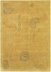 Artist's Loom Hand-knotted Contemporary Abstract Wool Rug (7'9x10'6)