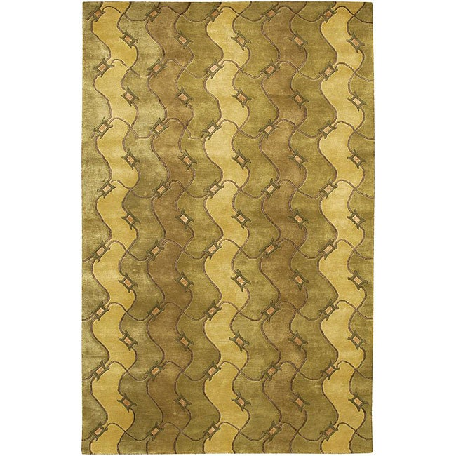 Artist's Loom Hand-knotted Contemporary Abstract Rug - 7'9 x 10'6
