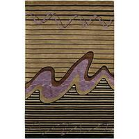 Artist's Loom Hand-knotted Contemporary Abstract Rug (7'9 x 10'6)