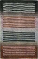 Hand-knotted Mandara Geometric Wool Rug (7'9 x 10'6) - Thumbnail 1